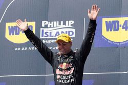 Podium: winner Craig Lowndes, Triple Eight Race Engineering Holden