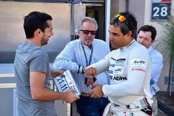Juan Pablo Montoya junto a Neel Jani, Porsche Team