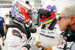Mitch Evans et Juan Pablo Montoya, Porsche Team