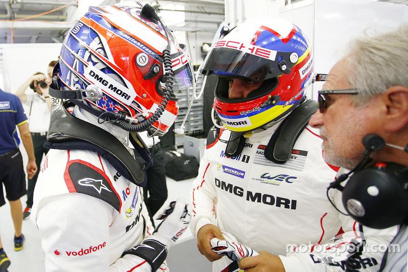 Mitch Evans und Juan Pablo Montoya, Porsche Team