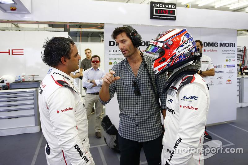 Mitch Evans, Mark Webber y Juan Pablo Montoya, Porsche Team