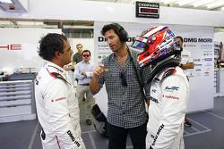 Mitch Evans, Mark Webber et Juan Pablo Montoya, Porsche Team