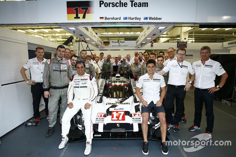 Mitch Evans ve Juan Pablo Montoya, Porsche Takımı