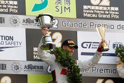 Podium: segundo, Edoardo Mortara, Audi Sport Team Phoenix