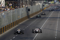 Charles Leclerc, Van Amersfoort Racing Dallara Volkswagen and Felix Rosenqvist, Prema Powerteam Dall
