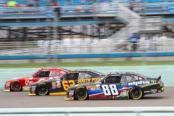 Ben Rhodes, JR Motorsports Chevrolet and Brendan Gaughan, Richard Childress Racing Chevrolet and Ros