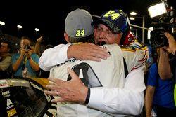 Jeff Gordon, Hendrick Motorsports Chevrolet with team owner Rick Hendrick