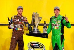 Victory Lane : le Champion NASCAR Sprint Cup Series 2015 Kyle Busch, Joe Gibbs Racing