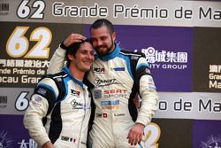 Podium: winner and TCR 2016 Champion Stefano Comini, SEAT Leon, Target Competition and second place Andrea Belicchi, SEAT Leon, Target Competition