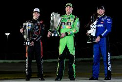 NASCAR Truck Series champion Erik Jones, NASCAR Sprint Cup Series champion Kyle Busch, NASCAR Xfinity Series champion Chris Buescher