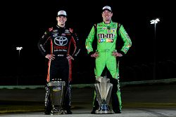 NASCAR Sprint Cup Series champion Kyle Busch and NASCAR Truck Series champion Erik Jones