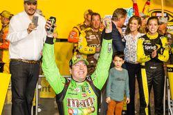 Victory lane: race winner and 2015 NASCAR Sprint Cup series champion Kyle Busch, Joe Gibbs Racing To