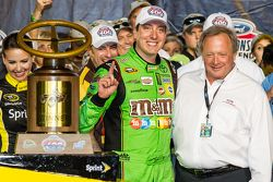 Victory lane: race winner and 2015 NASCAR Sprint Cup series champion Kyle Busch, Joe Gibbs Racing To