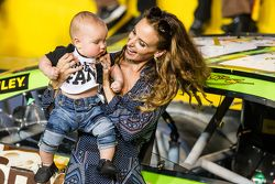 Victory lane: Samantha Busch and her son Brexton