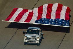 Le drapeau américain en parade