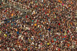 La foule est présente en masse