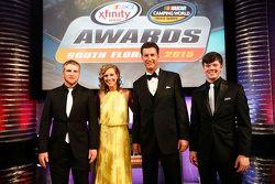 NASCAR Truck Series champion Erik Jones, NASCAR Xfinity Series champion Chris Buescher