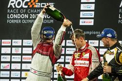 Winner Sebastian Vettel, second place Tom Kristensen, third place Petter Solberg