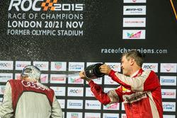 Winner Sebastian Vettel, second place Tom Kristensen