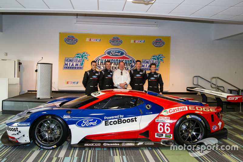 Chip Ganassi Racing Ford GTLM drivers для IMSA та Le Mans: Дірк Мюллер, Джоі Хенд, Річард Вестбрук та Райан Бріско з Chip Ganassi