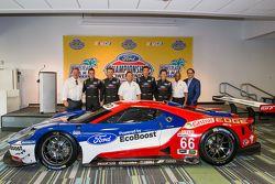 Pilotos de Chip Ganassi Ford GTLM para IMSA y Le Mans: Dirk Müller, Joey Hans, RIchard Westbrook y