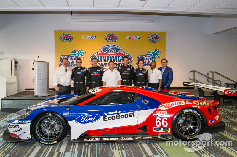 Chip Ganassi Racing Ford GTLM drivers для IMSA та Le Mans: Дірк Мюллер, Джоі Хенд, Річард Вестбрук т