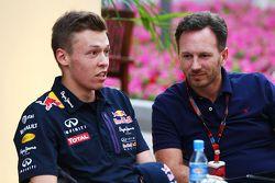 Daniil Kvyat, Red Bull Racing avec Christian Horner, Red Bull Racing Team Principal