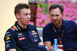 Даниил Квят, Red Bull Racing и Кристиан Хорнер, руководитель команды Red Bull Racing