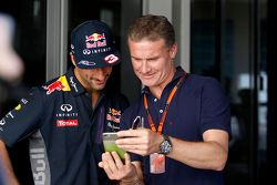 Daniel Ricciardo, Red Bull Racing, mit David Coulthard, Red Bull Racing
