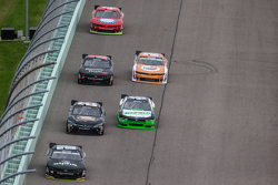 Ben Rhodes, JR Motorsports Chevrolet leads a group of car