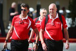 Graeme Lowdon, CEO Manor Marussia F1 Team avec John Booth, Team Principal Manor Marussia F1 Team