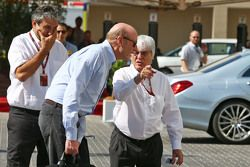 (L to R): Donald Mackenzie, CVC Capital Partners Managing Partner, co-head of Global Investments with Bernie Ecclestone