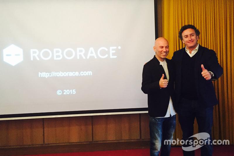 Denis Sverdlov, Gründer von Kinetic, mit Formel-E-Serienchef Alejandro Agag