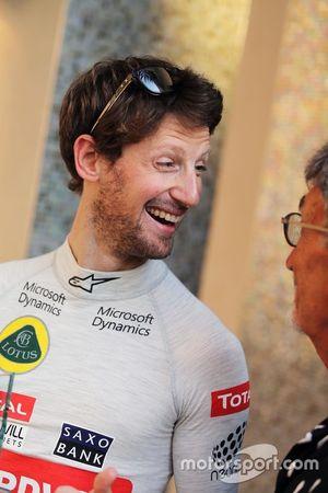 رومان غروجان، لوتس مع إيدي جوردان، محلّل شبكة بي.بي.سي