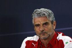 Maurizio Arrivabene, Ferrari, Team Principal lors de la conférence de presse de la FIA