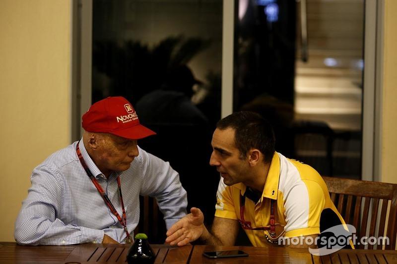 Нікі Лауда, Невиконавчий голова Mercedes з Сиріл Абітебул, Renault Sport F1 Managing Director