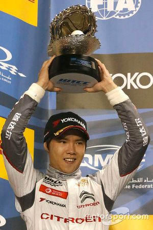 Podium: second place Ma Qing Hua, Citroën C-Elysée WTCC, Citroën World Touring Car team