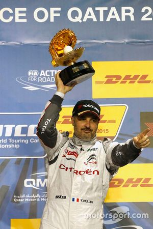 Podio: ganador Yvan Muller, Citroën C-Elysée WTCC, Citroën World Touring Car team