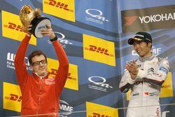 Podium: winners Citroën World Touring Car team