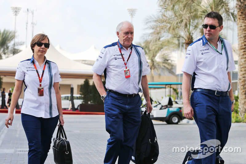 Claire Williams, Williams, stellvertretende Teamchefin, mit Edward Charlton, Williams
