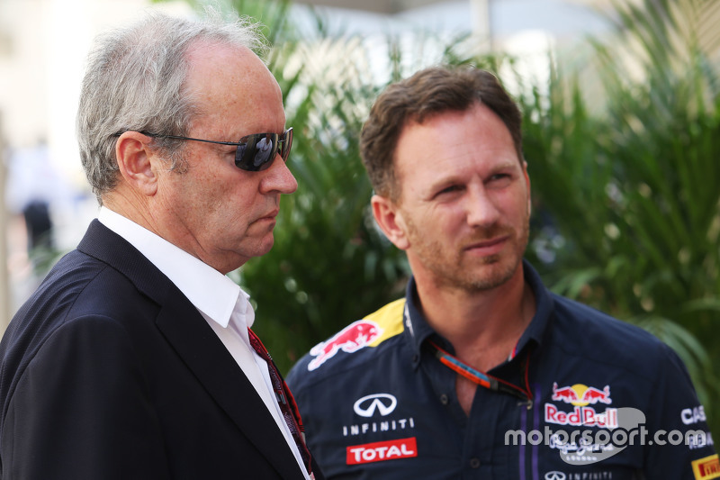 Jerome Stoll, Renault Sport F1, Präsident, mit Christian Horner, Red Bull Racing, Teamchef