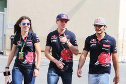 Tabatha Valles, Responsable Presse Scuderia Toro Rosso avec Max Verstappen, Scuderia Toro Rosso et Carlos Sainz Jr, Scuderia Toro Rosso