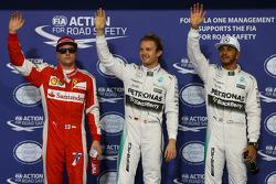 Кими Райкконен, Ferrari, Нико Росберг, Mercedes AMG F1 Team, Льюис Хэмилтон, Mercedes AMG F1 Team