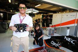 Mohammad Reza Golzar, Actor, huésped de Sahara Force India F1 Team