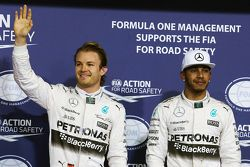 Polesitter Nico Rosberg, Mercedes AMG F1 Team, second place Lewis Hamilton, Mercedes AMG F1 Team