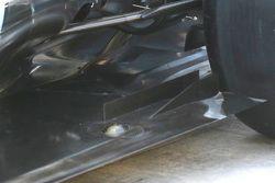 Mercedes W06 Hybrid, dettaglio del fondo