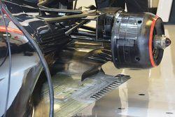 McLaren MP4-30, dettaglio della sospensione posteriore