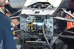 Red Bull RB11, dettaglio della sospensione idraulica