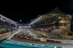 Race 1 Start: Pierre Gasly, DAMS voor Stoffel Vandoorne, ART Grand Prix