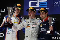 Race 1 Podium: second place Raffaele Marciello, Trident and winner Stoffel Vandoorne, ART Grand Prix and third place Mitch Evans, RUSSIAN TIME